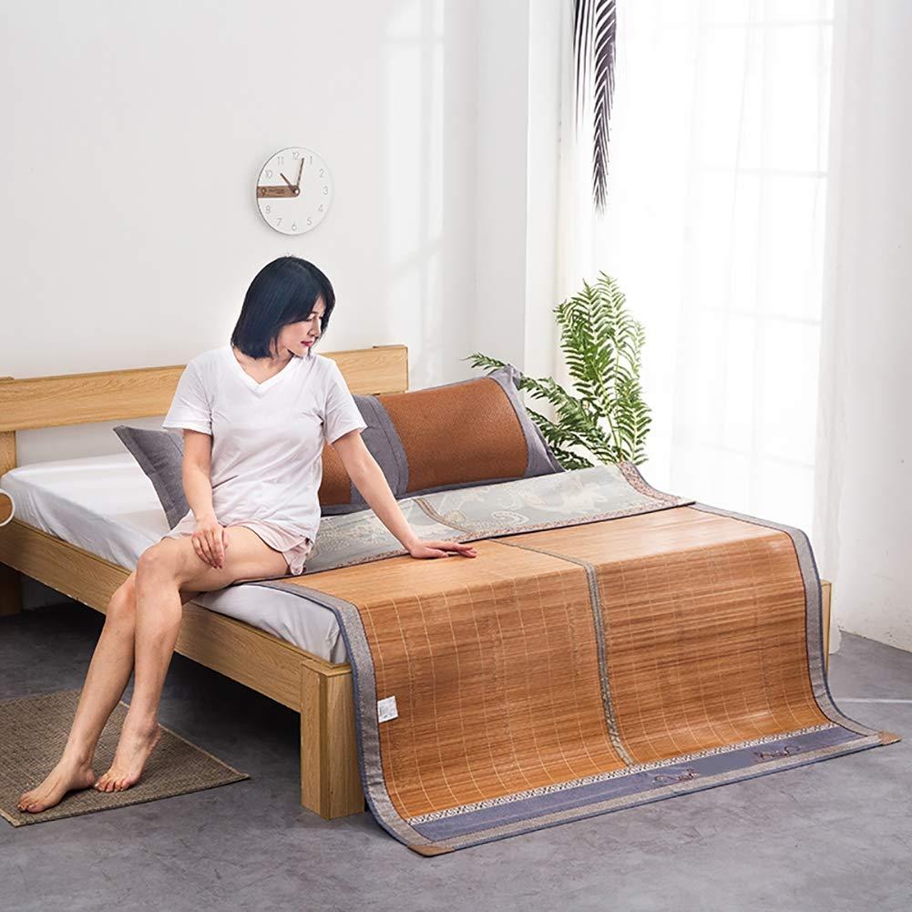 WLYF Estera De Dormir Verano Bambú Rota Cama, Ecológica Plegable ...