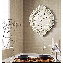 Watch the creative art deco style large wall clock personalized wall table silent living room clock quartz clock Wall Clock, White