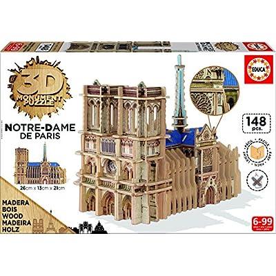 Educa 169740 3d Monument Puzzle Notre Dame De Paris
