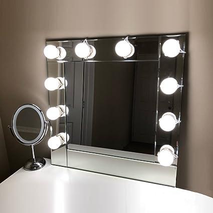 Amazon lvyinyin vanity mirror lights hollywood makeup lighted lvyinyin vanity mirror lights hollywood makeup lighted desk with dimmable circle led bulbs wall lighting fixtures aloadofball Choice Image