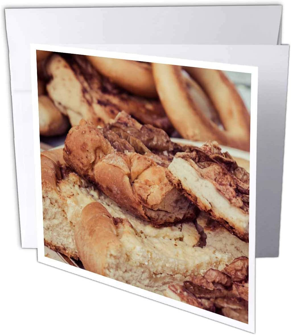 3dRose A Pile of Fresh Apple Pie Pieces. Stylized Photo - Greeting Card, 6 by 6-inch (gc_295010_5)