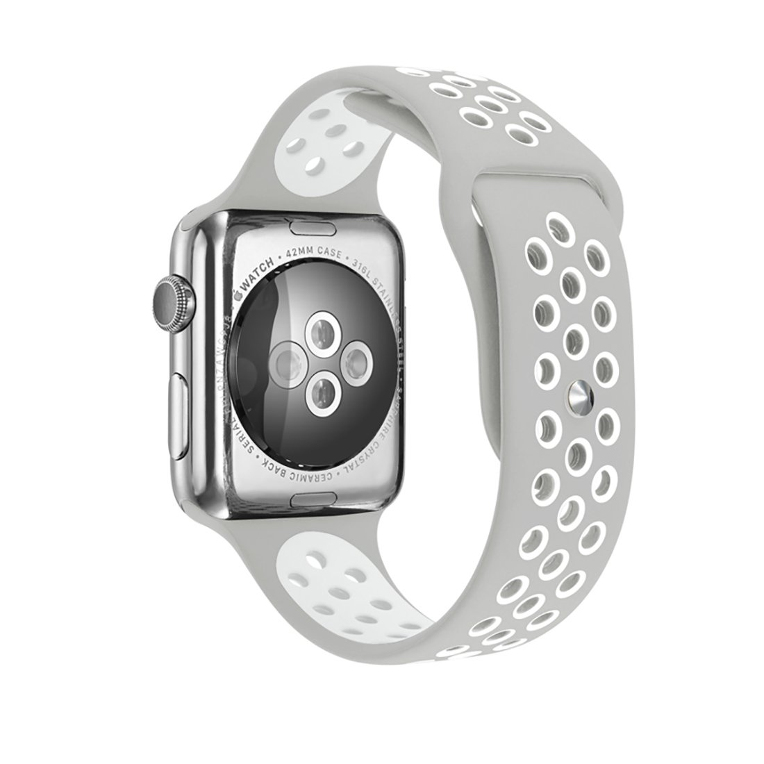Amazon.com: PLUSEYE for Apple Watch Band Silicon Apple Watch ...