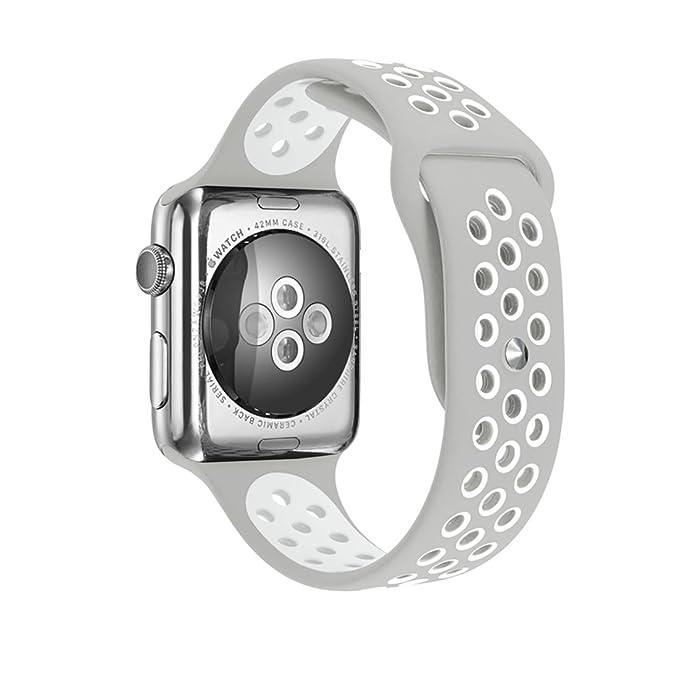 PLUSEYE - Correa de silicona para Apple Watch, color Nike ...