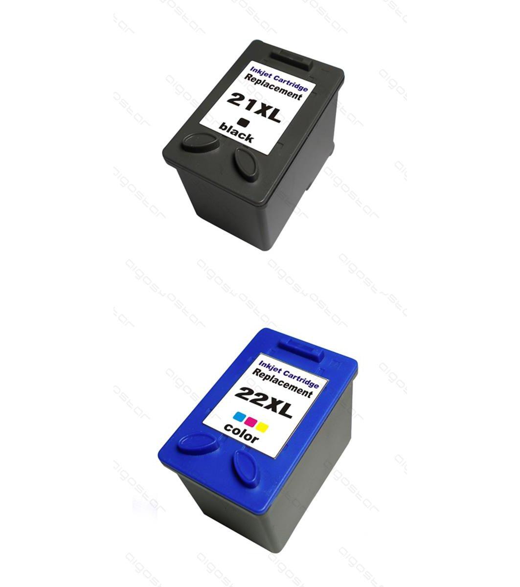 Kit 2 cartuchos compatibles HP 21 X L 22 X L y de inyección ...
