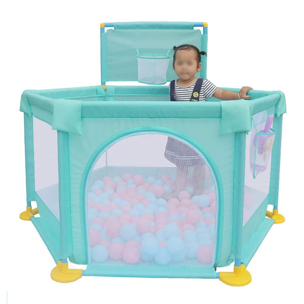 赤ちゃんの遊び場の安全性プレイヤー衝突防止の遊び場ポータブルな幼児の遊び場繁栄可能なメッシュの遊び場看護センター遊び場   B07H49ZPCG