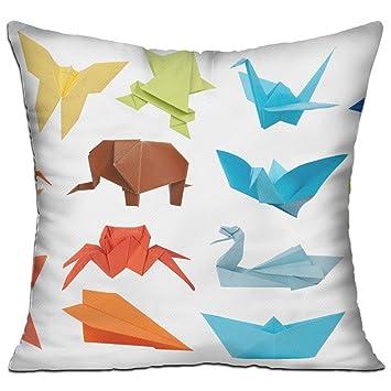 Amazon.com: Origami Fashion - Almohada decorativa de lujo ...