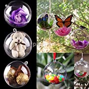 Description: Fashion design,100% Brand New,high quality! Be a lovely decoration for weddings,christmas tree,parties,home and etc. Material: Plastic Color: Clear Ball Box Diameter: 4cm Package Includes: 10x Candy Box (Only empty box)