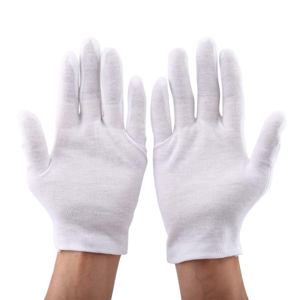 12 Pairs/Lot Practical White Cotton Work Safety Glove