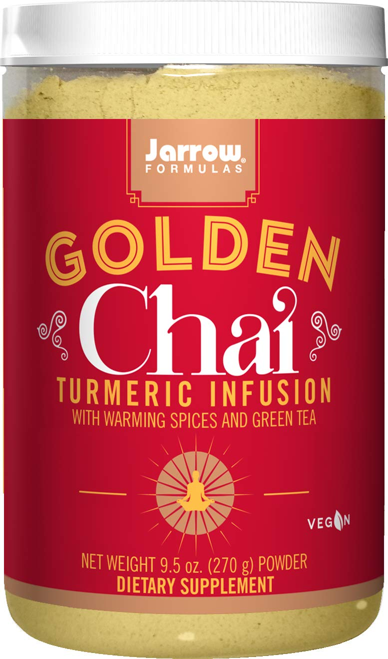 Jarrow Formulas Golden Chai, Turmeric Infusion with Warming Spices Powder Drink, 9.5 Oz