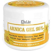 Dulàc Arnica Gel Extra Sterke Snelle Actie 95% Made in Italy voor Spieren en Gewrichten, Arnica Gel Sterk met Arnica…