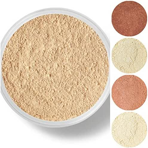 STARTER SET Mineral Makeup Kit Bare Skin Sheer Powder Matte Foundation Veil (Warm (most popular))