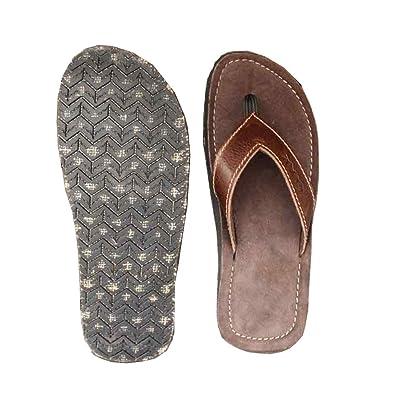 63 K 100% Leder Flip Flop Sandalen Slops plakkies
