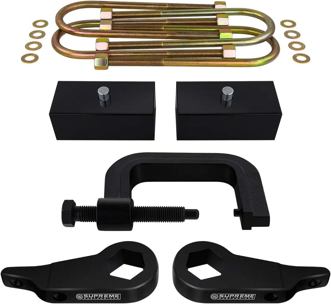 Torsion Bar Unloading Tool 1 Rear Lift Blocks Supreme Suspensions Round Bend U-Bolts Full Lift Kit for 1997-2012 Ford Ranger Adjustable 1 to 3 Front Lift Torsion Keys