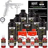 U-POL Raptor Hot Rod Red Urethane Spray-On Truck Bed Liner Kit w/ FREE Spray Gun, 6 Liters