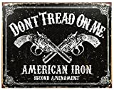 Don't Tread on Me Tin Metal Sign American Iron Second Amendment 16 by 12.5 inch 1 count
