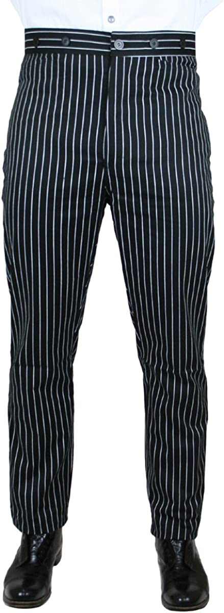 Victorian Men's Costumes: Mad Hatter, Rhet Butler, Willy Wonka Striped Dress Trousers $62.95 AT vintagedancer.com