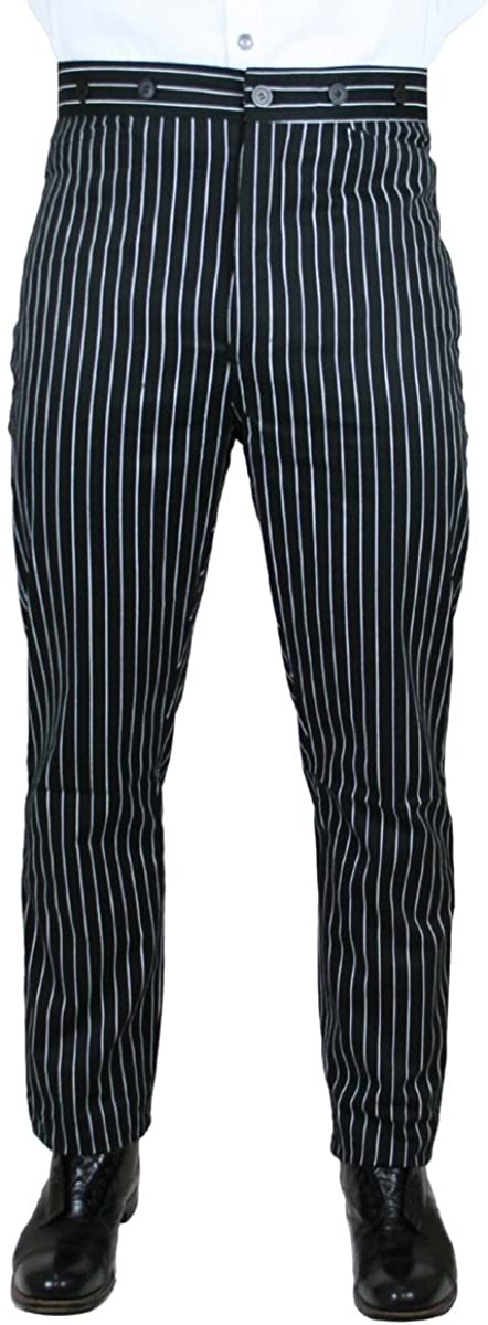 Victorian Men's Pants – Victorian Steampunk Men's Clothing Striped Dress Trousers $62.95 AT vintagedancer.com