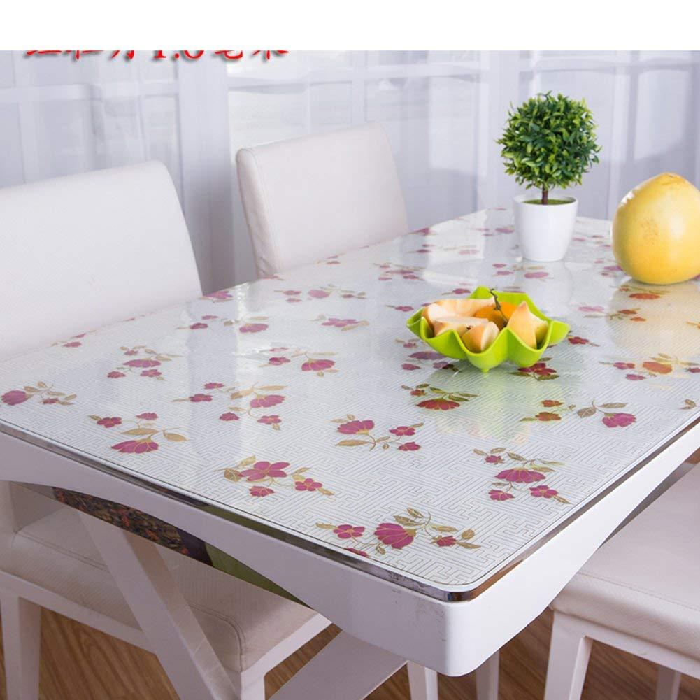 Shuangdeng PVC防水油布軟質ガラスつや消しテーブルクロス (Color : K, サイズ : 70x140cm(28x55inch))   B07SDKZQXC