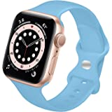 LIAN Sport Band Compatible with Apple Watch Band 41mm 45mm 38mm 40mm 42mm 44mm, Silicone iWatch Band for Women Men Replacemen