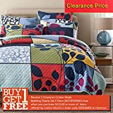 Quilt Set Queen, Cotton World Li Premium 3 Piece Oversized Coverlet Set, Bedspread Bed Cover Reversible Luxury Light Weight 87'' x 95'' / Pillow Shams 20'' x 28''- Wrinkle Fade Resistant Hypoallergenic