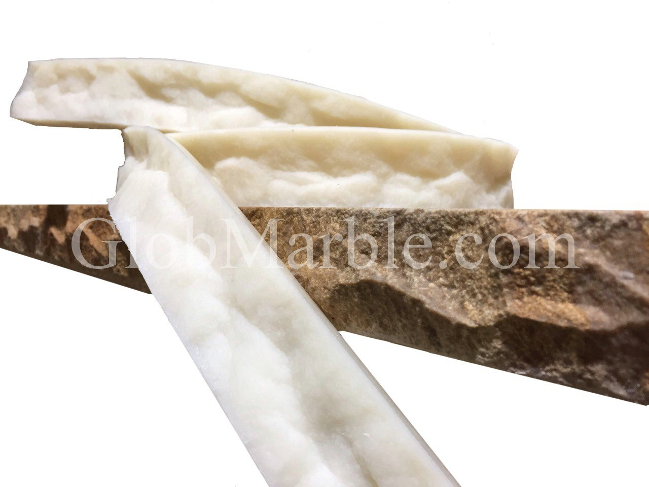 GlobMarble Concrete Countertop Mold Edge Form CEF 7010 Form Liners Edge Profile 8 Ft by GlobMarble