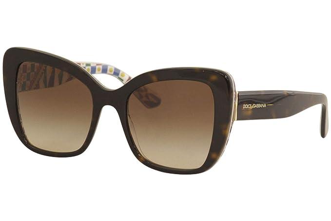Dolce & Gabbana 0DG4348 Gafas de sol, Havana On White Barrow ...