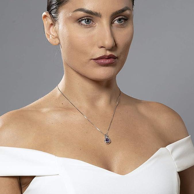 Dama De Joyería De Moda ** corazón cortado Aguamarina De Topacio Dorado Colgante Collar