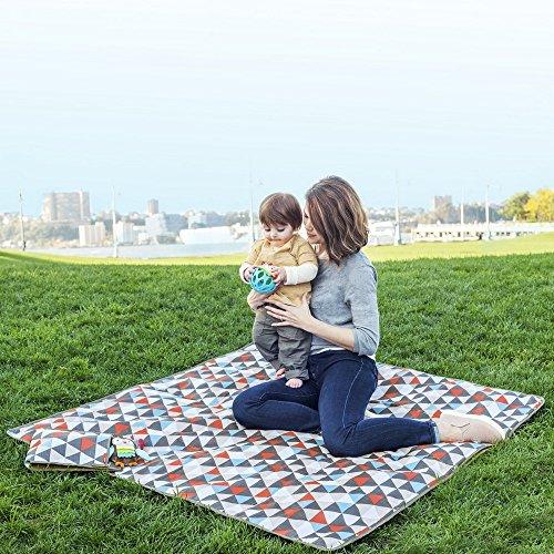 Skip Hop Baby Infant & Toddler Central Park Waterproof Convertible Outdoor Blanket & Detachable Cooler Bag, Multi Triangles by Skip Hop (Image #5)