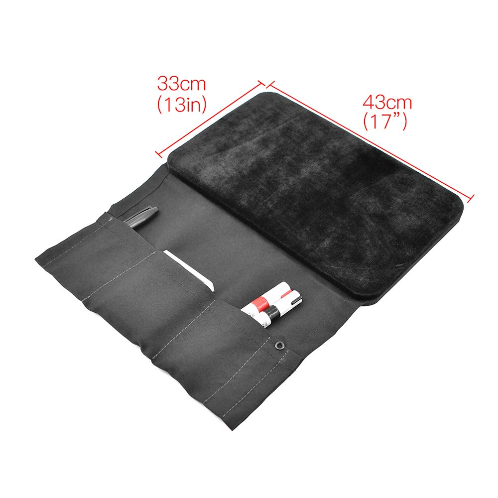 Doowops Presto Pad (Close Up Style, Black,43×33cm/17×13'') Magic Tricks Magician Accessories Gimmick Coin Card Mat Table Hopper Close Up Pa by Doowops (Image #2)