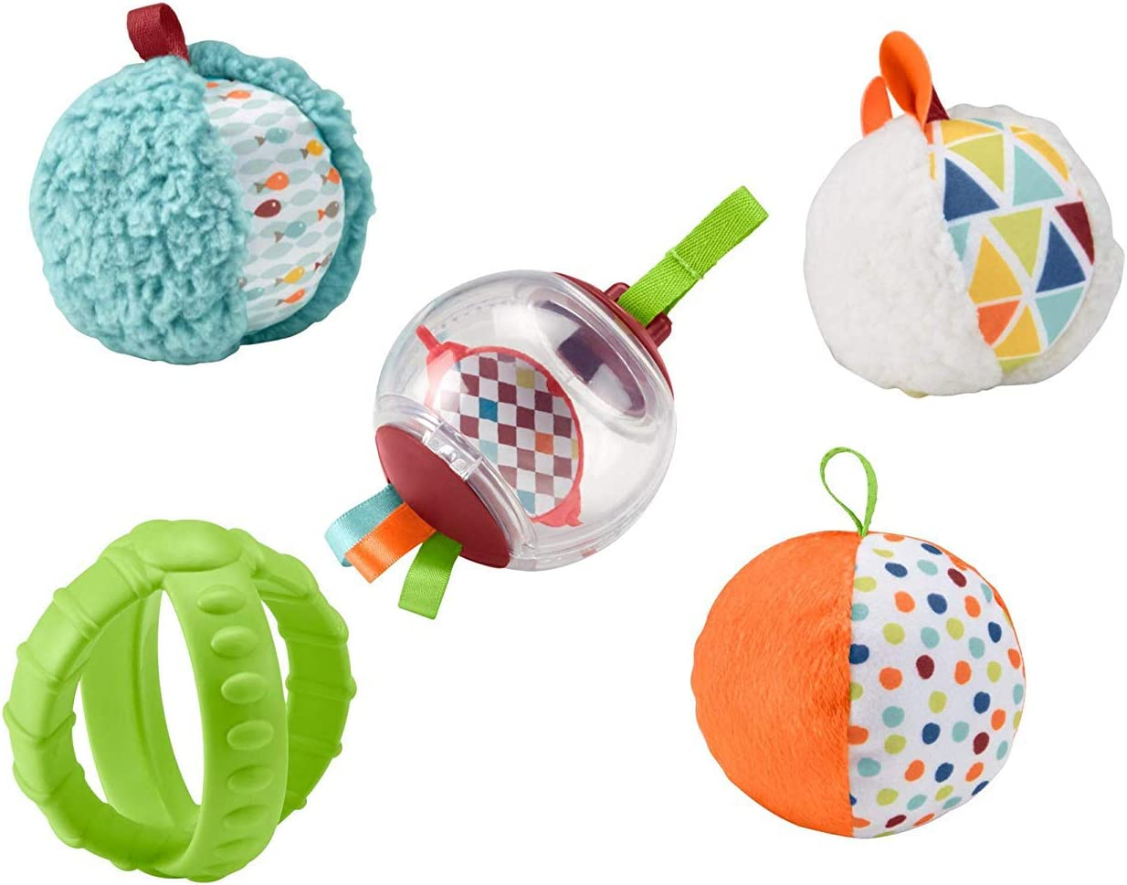 Fisher-Price Bolitas blandas activity, 5 bolas de juguete para ...