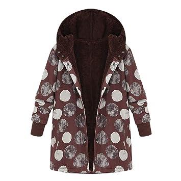 Plus Size Womens Vintage Warm Winter Parka Coat Ladies Casual Jacket Outwear  UK