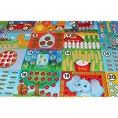 Curious Minds Busy Bags Counting Mats for Putty/Dough/Slime Modelling Compound, - Learning Toy: Toys & Games