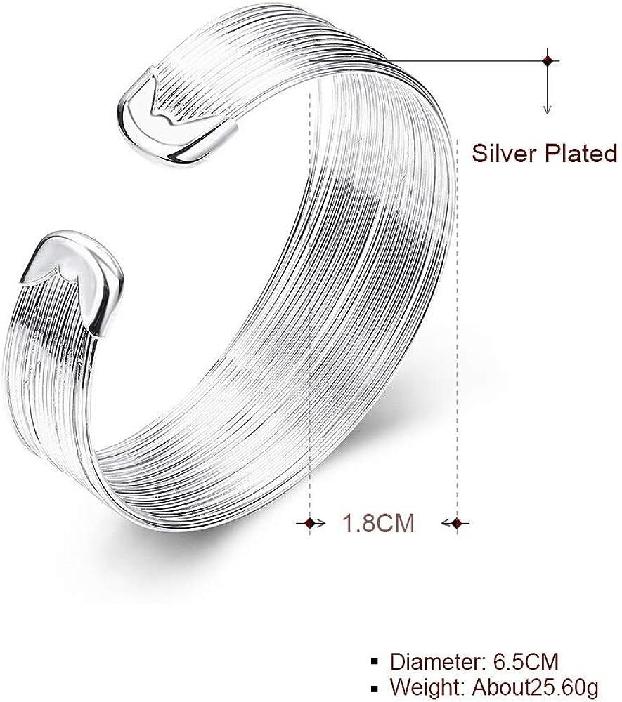 MXYZB Wire Metal Coil Thin Cuff Bracelet