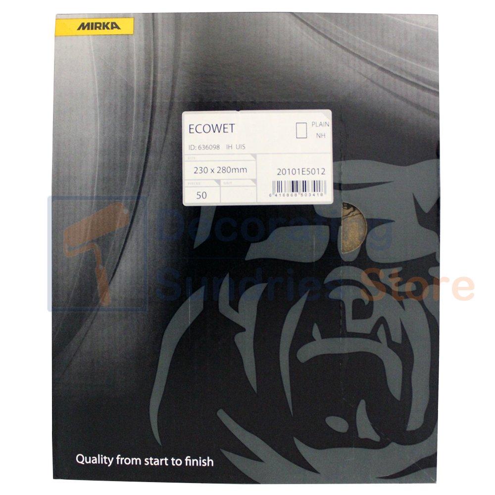 Mirka Wet /& Dry Sandpaper Sheets Grit P600 230mm x 280mm 50 Pack