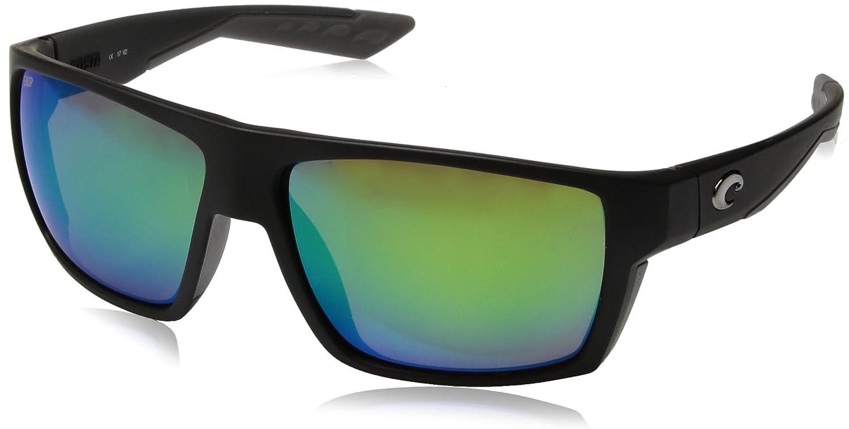 a33fec6eadd73 Costa Del Mar Bloke BLK124OGMP Mens Matte Black Frame Green Polarized 580P  Lens Square Sunglasses  Amazon.co.uk  Clothing