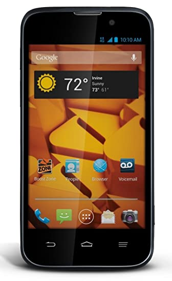 amazon com zte boost warp 4g black boost mobile cell phones