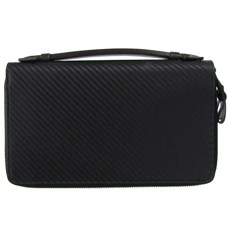 ダンヒル 財布 メンズ シャーシ ダブルジップ トラベルコンパニオン ブラック L2A245A [並行輸入品] B0799H75LZ