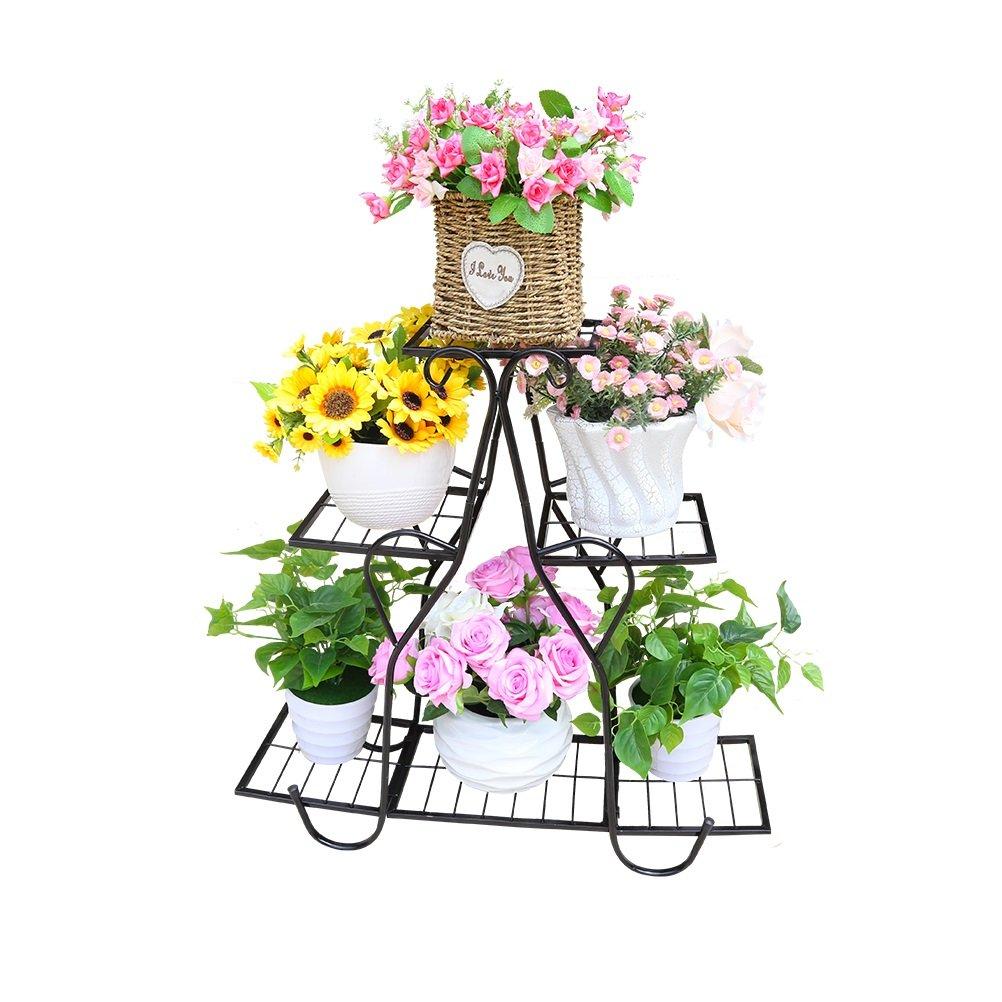 FLOWER RACK-LU Ferro da Stiro Soggiorno a più Piani Balcone Vassoi per Fiori Fiori per Vaso da Interno Vassoi da Fiori in Stile Europeo