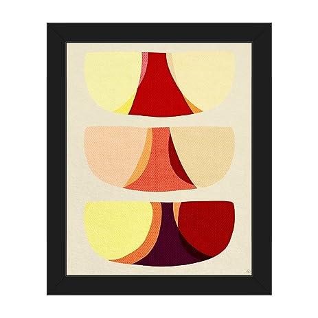 Amazon.com: Retro Shape Art Red: Mid-Century Retro Modern Postmodern ...