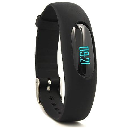 YAMAY Fitness Armband Schrittzähler Armbanduhr Ohne Bluetooth Aktivitätstracker mit Zeit Dtum Schrittzähler Kalorienzähler En