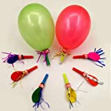 KIDSTAB Ziggle Whistles Blowouts Balloon - 30 Pieces
