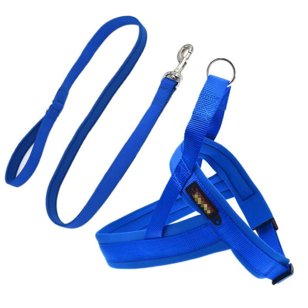 bluee LPet Leash, Nylon Comfortable Breathable Dog Buffer Rope (color   orange, Size   M)