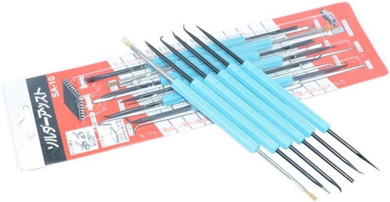 Azul LIGH 6Pcs Herramienta de Ayuda para desoldar Placa de Circuito Servicio de Soldadura Herramientas auxiliares de Soldadura Juego de Asistencia Kit de Limpieza de PCB de Ayuda para Soldadura