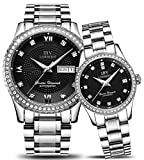 Swiss Brand Automatic Mechanical Watch Men and Women Diamond-Accented Two-Tone Couple Watches