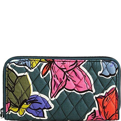 Vera Bradley Women's RFID Georgia Wallet Falling Flowers Wallets