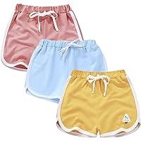 Rolanko Pantalones Cortos Niñas, Verano Algodón Deportivos Pantalón para Niños para Baile y Corree