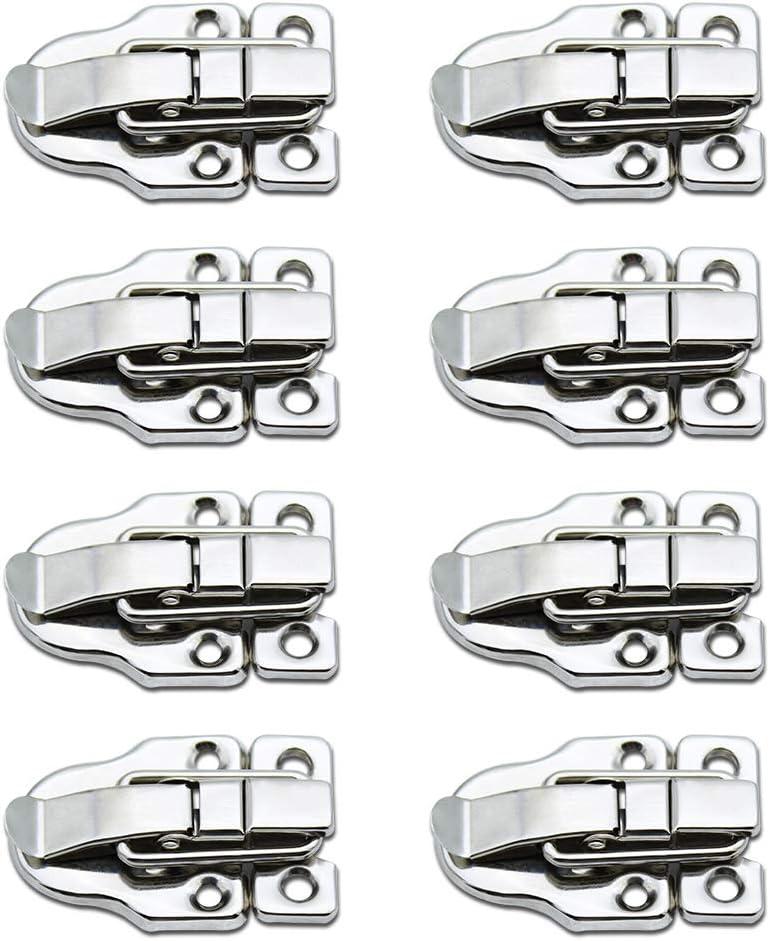 LumenTY 8 Piezas Cerradura Cierre para Hardware Gabinete Cajas /Caja de Herramientas/Maleta/de La Joyería Caja de Madera /Caja de Medicina -Plata