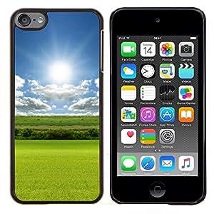 Queen Pattern - FOR Apple iPod Touch 6 6th Generation - Grass reflection - Cubierta del caso de impacto con el patr???¡¯???€????€?????n Art