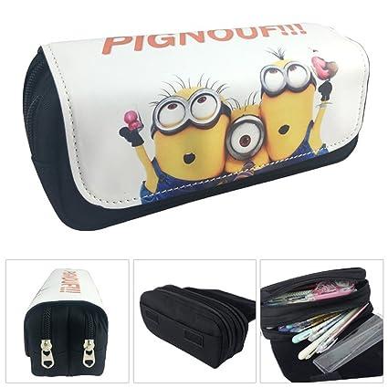 Estuche Escolar La caja de lápiz para la escuela dos compartimentos Minions Gru: Mi villano favorito 3 Pignouf!
