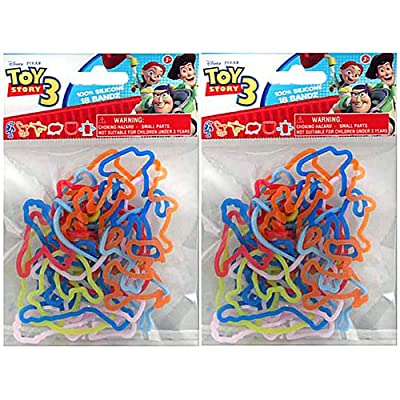 18 Pack Disney Toy Story 3 Silly Shaped Silicone Bandz: Toys & Games